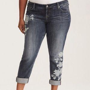 Torrid | Embroidered Boyfriend Jeans